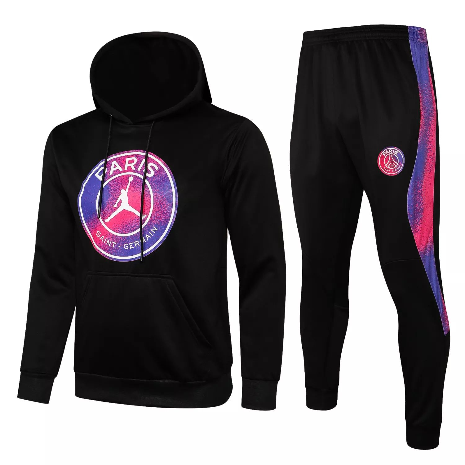 "PSG - BLACK-PINK-PURPLE ""Hoodie Training Suit"" JORDAN – 2021-22"