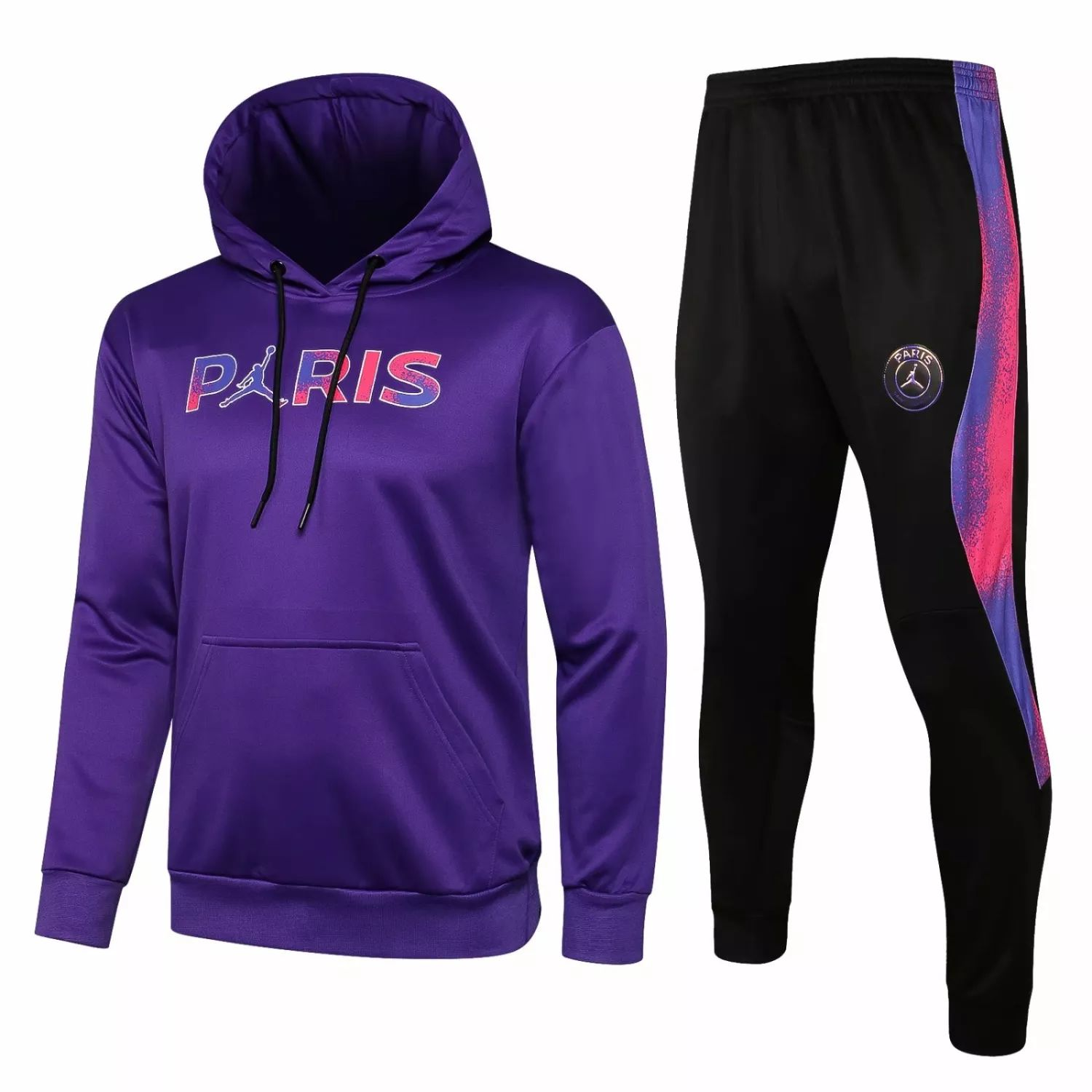 "PSG - PURPLE ""Hoodie Training Suit"" JORDAN – 2021-22"